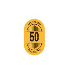50 years anniversary celebrations retro template vector
