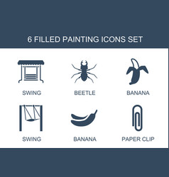 6 painting icons vector