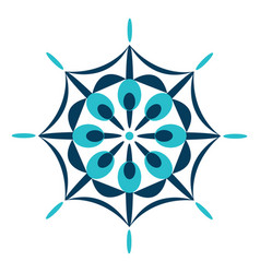 A spiritual blue color mandala or color vector