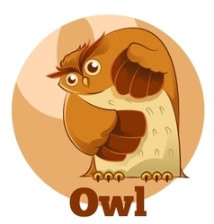 ABC Cartoon Owl vector image