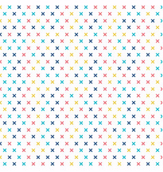 abstract cross pattern colorful on white vector image
