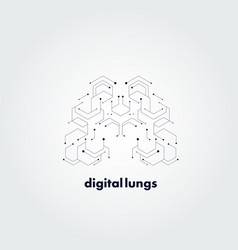 abstract digital lungs concept design vector image