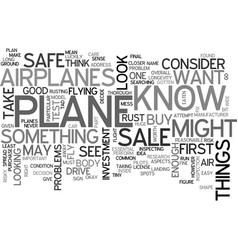 Airplanes for sale text word cloud concept vector