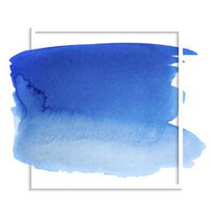 blue watercolor wet paper texture vector image