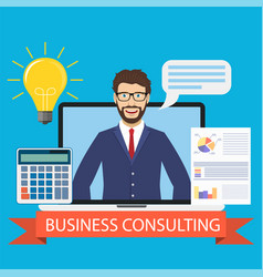 Business consulting concept vector