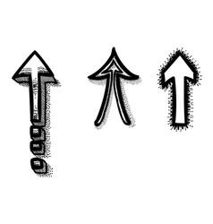 Cartoon image of arrows icon vector