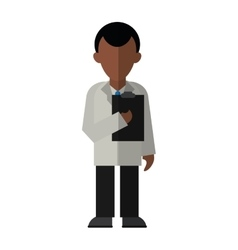 Character doctor clipboard uniform medicine vector