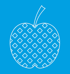Checkered apple icon outline style vector