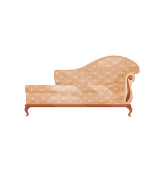 Classic sofa with soft beige trim vintage couch vector