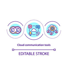 cloud communication tools concept icon vector image