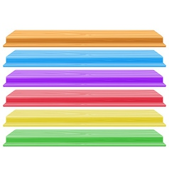 Colourful shelves vector image