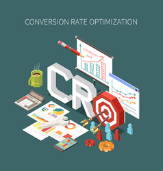 Conversion rate optimization concept vector