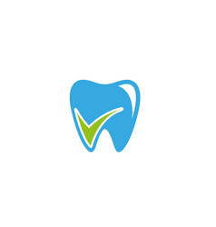 Creative abstract dental tooth check logo design vector