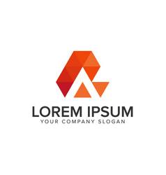 Creative modern letter a logo design concept vector