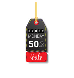 cyber monday sale tag isolated online shopping vector image