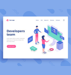 developers team concept people interact vector image