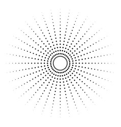 Dotted radial element circle circular pattern vector