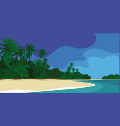 fabulous tropical island vector image
