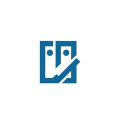 face-logo vector image