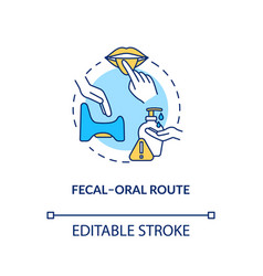 fecal oral route concept icon contagious vector image