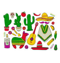 fiesta and latin american festivals a set of vector image
