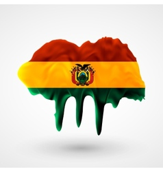 Flag of Bolivia painted colors vector