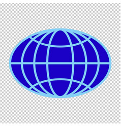 Flattened oval globe vector