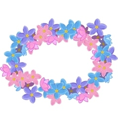 Floral oval wreath vector