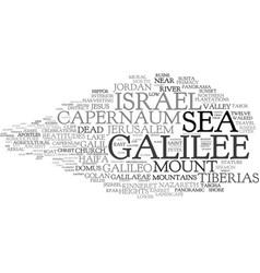 Galilee word cloud concept vector