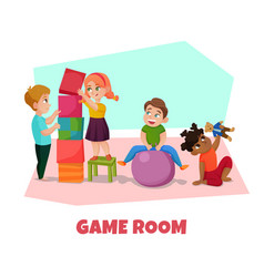 game room vector image