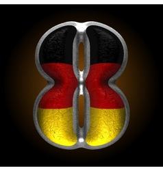 Germany metal figure 8 vector