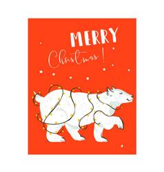 hand drawn abstract fun merry christmas vector image