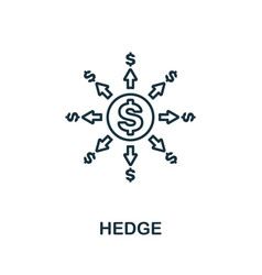 Hedge icon outline style thin line creative hedge vector