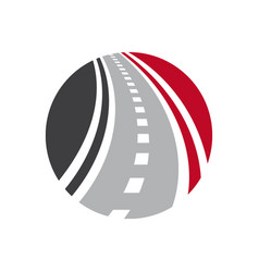 Highway logo combination curved road and vector