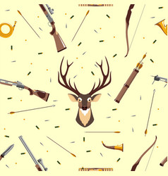 Hunting seamless pattern vector