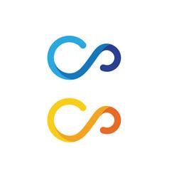 Infinity design icon vector