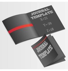 Journal template vector