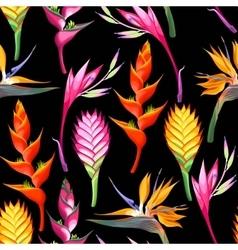 Jungle flowers seamless vector image