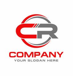 Letter cr logo design vector