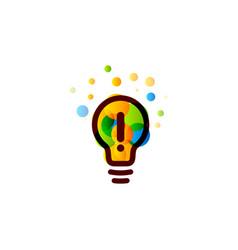 lightbulb icon creative idea logo design concept vector image