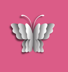 logo butterfly of layers paper cut vector image