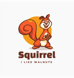 logo squirrel simple mascot style vector image