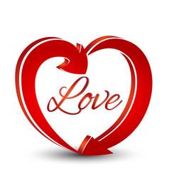 love heart shape arrows icon vector image