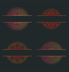 mandala texture abstract decoration background vector image