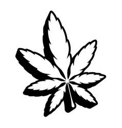Marijuana pot weed leaf vector
