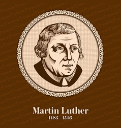 Martin luther was a german professor of theology vector