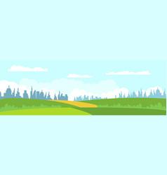 modern cityscape panorama flat vector image