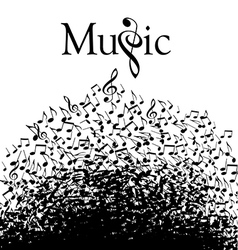 Music typographic vector