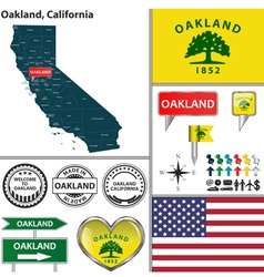 Oakland California set vector