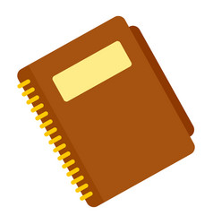 office paper notebook icon flat style vector image